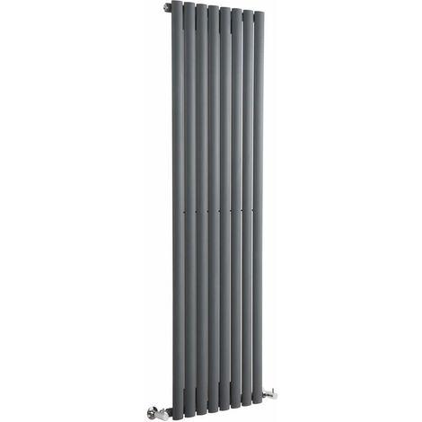 Hudson Reed Vitality – Radiateur Design Vertical – Anthracite – 160 x 47,2cm