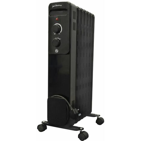 Oil Filled Radiator Heater Black 1.5kw or 2kw