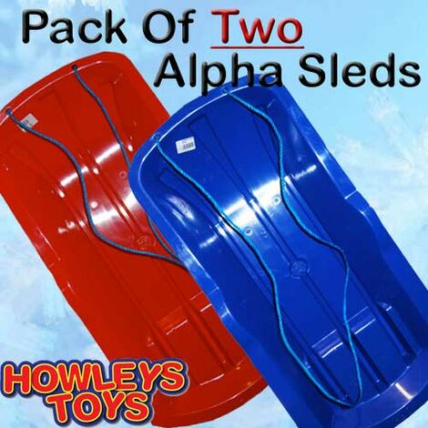 Set Of Two Alpha Sled / Sledges (One Red, One Blue)