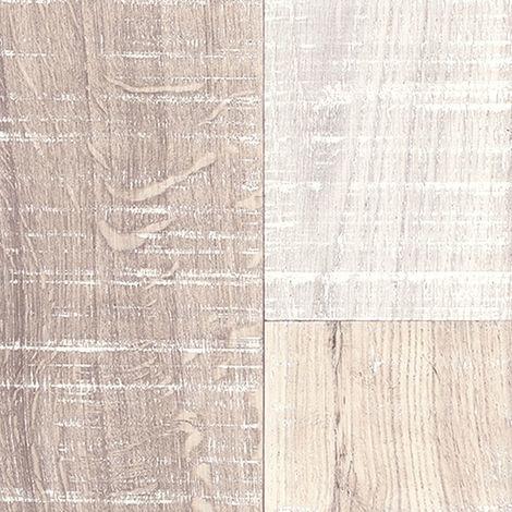 Sol stratifié effet parquet chêne rude, boite de 7 lames soit 2,22 m² EH LOFT 8222 .