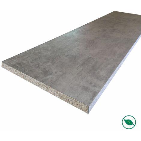Plan de travail stratifié minéral 2000 x 650 x 38 mm - PEFC 75% .