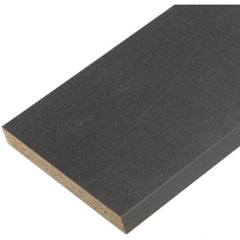 Plan de travail stratifié noir pietra 2000 x 650 x 38 mm - PEFC 75%