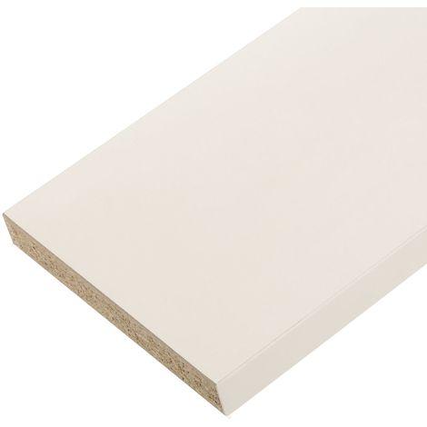 Plan de travail stratifié blanc 2000X650X38 mm PEFC 75%