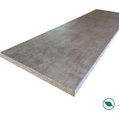 Plan de travail stratifié minéral 3000 x 650 x 38 mm - PEFC 75%.