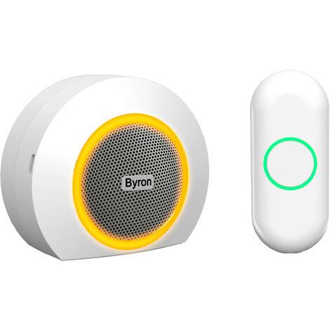 Sonnette sans fil Byron DBY-23521 - jeu portable – portée 200 mètres et signal optique