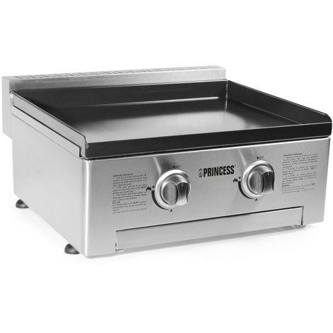 PRINCESS Plancha gaz Plaque de cuisson 2 brûleurs