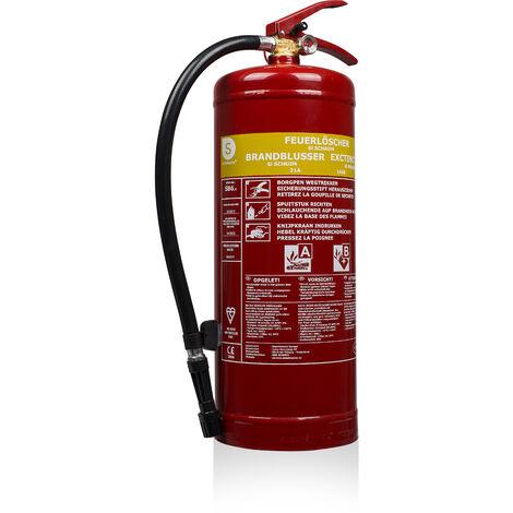 Extincteur Smartwares SB6 – Mousse – 6 litres – Classe de feu AB – Avec support de montage