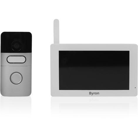 Interphone vidéo sans fil Byron DIC-22615 – communication bilatérale – écran tactile