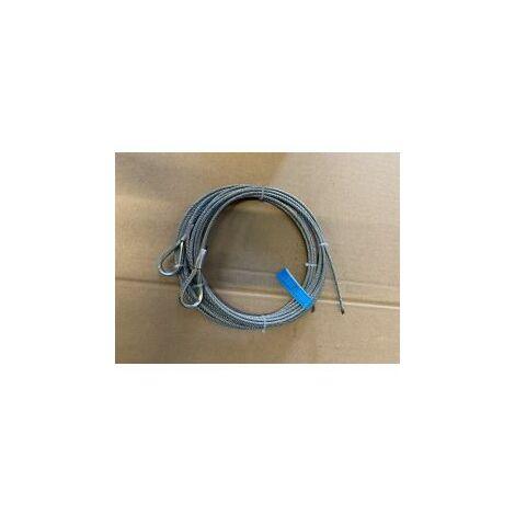 Paire de câble acier assemblé diamètre:3mm, longueur 3 m / 1770N/mm² - 251103.
