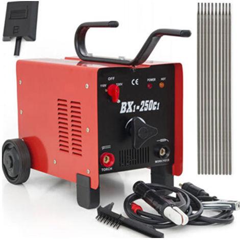 250AMP Welder AC ARC Stick Torch Welding Machine Kit