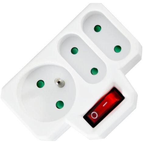 Triplite 1x16A + 2x6A avec interrupteur