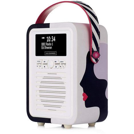 VQ Retro Mini DAB+ FM Radio Bluetooth Speaker - Lulu Guinness Kissing Cameo