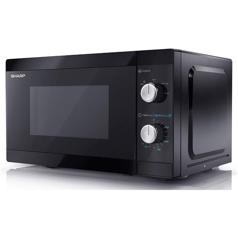 Sharp YC-MS01U-B Black 20 Litre 800W Microwave With Defrost Settings
