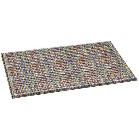 Ecomat 3D Multicoloured Rubber Backing Recycled Doormat Carpet Rug - 46x76 CM