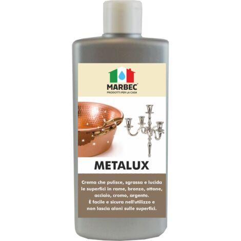 METALUX 250GR | Crema lucidante pulente per superfici in metallo