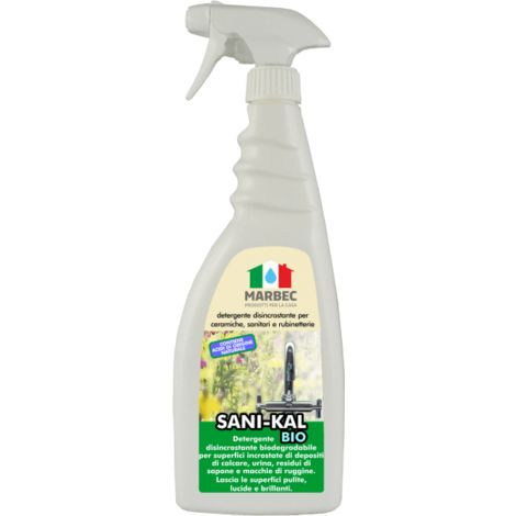 SANI-KAL BIO 750ML   Detergente disincrostante per ceramiche, sanitari e rubinetterie