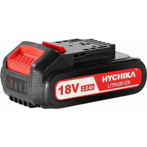 HYCHIKA 18V batteria ricaricabile agli ioni di litio, 2.0Ah batteria di ricambio, per HYCHIKA 18V Sega a Gattuccio