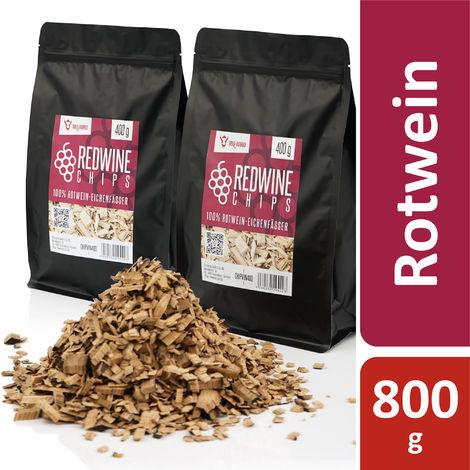 BBQ Toro Redwine Smoker Chips   800 g   from 100% red wine oak barrels