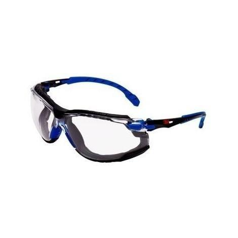Gafa solus 1101 transparente kit espuma+banda negro/azul 3M
