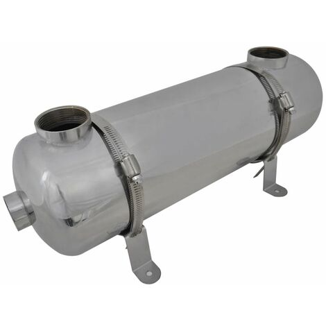 Échangeur de chaleur pour piscine 485 x 134 mm 60 kW Chauffage piscine