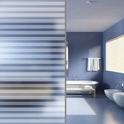 Film dépoli autoadhésif d'intimité pour fenêtre Rayures 0,9x5 m
