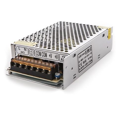 Transformador LED 230VAC/12VDC 100W 8,5A IP25 (CP-S-100-12)