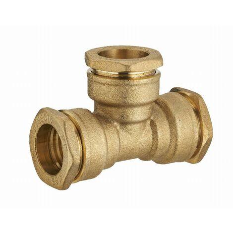 Té laiton égal pour tuyau polyéthylène NOYON & THIEBAULT - Ø 25 mm - 1731-25L1