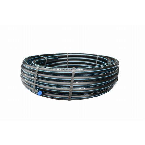 Tuyau polyéthylène bande bleue NOYON & THIEBAULT - L 10 mètres - Ø 25 mm - 1743-25