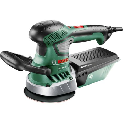 Ponceuse excentrique BOSCH PEX 400 AE - 350W - en coffret + accessoires - 06033A4000