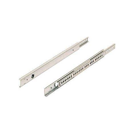 Coulisse à billes ka 1730 hauteur 17 - Longueur : 450 mm - Pour tiroir de profondeur : 450 mm - HETTICH - Matériau : Acier