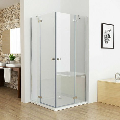 Duschkabine Eckeinstieg Duschwand Dusche Duschabtrennung ESG Glas