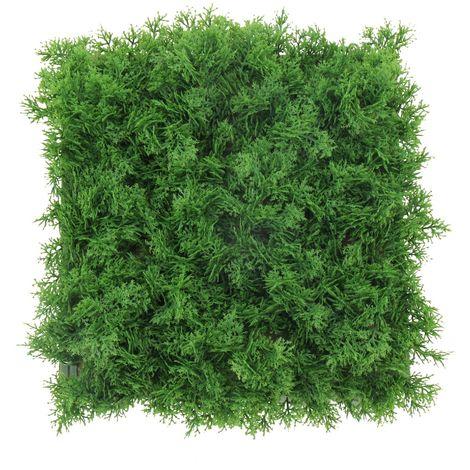 Pannello Lichene Artificiale 50x50cm Verde Scuro