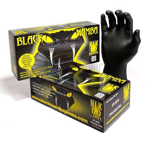 Boîte de 100 gants Blackmamba jetables nitrile - Blackmamba - BLM050*