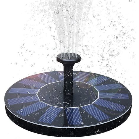 Solar Fountain Solar Pond Pump with 6 Effects Solar Water Pump Solar Floating Fountain Pump for Garden Pond or Fountain Bird Bath Fish Container