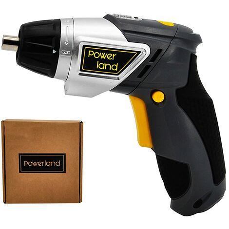 Powerland - Destornillador Inalámbrico eléctrico 3,6 V 1300 mAh (Atornillador) Ajustable