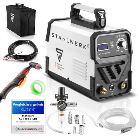 STAHLWERK CUT 40 ST IGBT Plasma Cutter with 40 Ampere, up to 10 mm cutting power, suitable for painted sheets & flash rust, 7-year manufacturer warranty