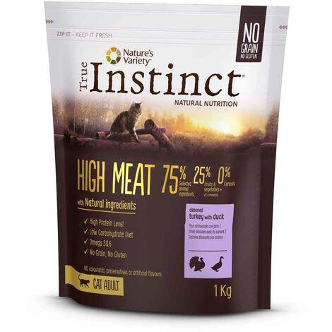 True Instinct - Croquettes High Meat Adult à la Dinde pour Chat - 1Kg