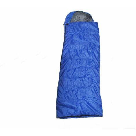 Lightweight Sleeping Bag With Elasticated Hood - Camping Warm Waterproof Cosy Zip Up