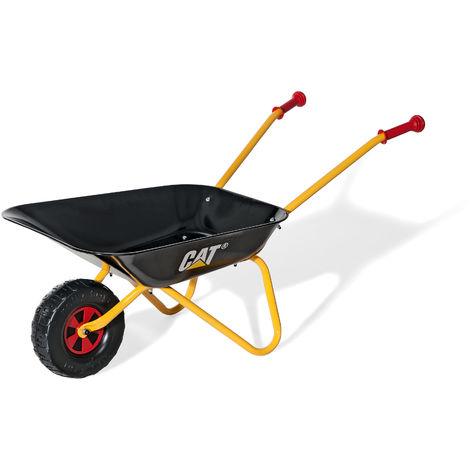 Rolly Toys Kinderschubkarre CAT Metallschubkarre, ab 2,5 Jahre, Kunststoffgriffe