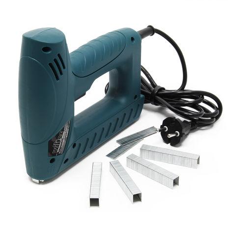 Graffatrice chiodatrice elettrica per graffe e chiodi incl. 100 graffe 80 chiodi