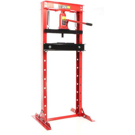 Pressa idraulica Pressa per officina da 12 t Larghezza di lavoro: 50-680 mm