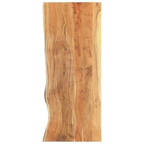 Hommoo Bathroom Vanity Top Solid Acacia Wood 140x55x3.8 cm VD36735