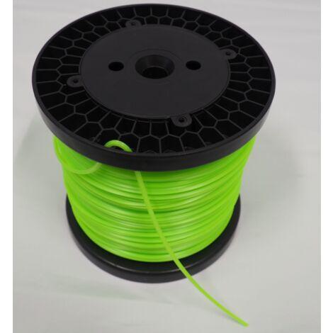 Bobine de fil professionnel pour débroussailleuse Carré 3 mm - Super résistance d'origine Bazargiusto
