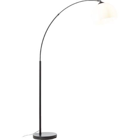 """Lightbox Bogenlampe - bis 166 cm höhenverstellbare Bogenstandleuchte, Ø 30 cm, Fußschalter, E27 Fassung für max. 60 Watt - Metall/Kunststoff-""""LB00001497"""""""