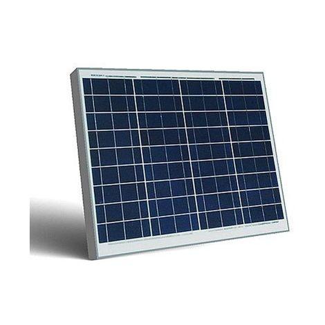 50W Pannello Solare Modulo Fotovoltaico 12V CELLE SILICIO PINZE BATTERIA