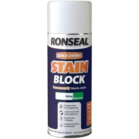 Ronseal Stain Block Aerosol White 400ml