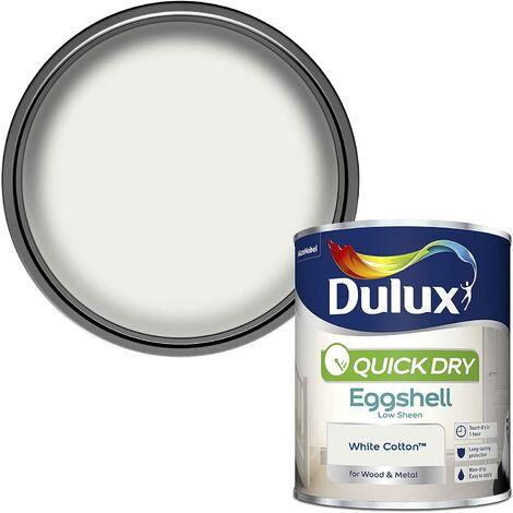 Dulux Quick Drying Eggshell 750ml White Cotton