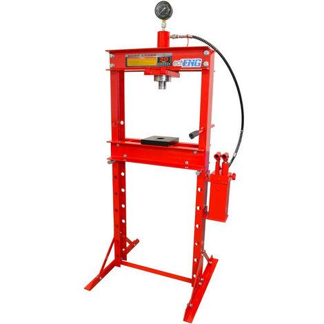 Pressa idraulica manuale 20 T TON Tonnellate manometro corsa 200 mm 2 prismi