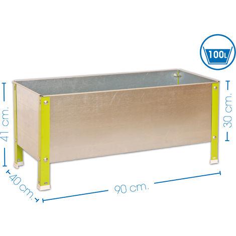 SimonRack - Potager galva/vert 100L - UrbanGarden 410x900x400 Galva