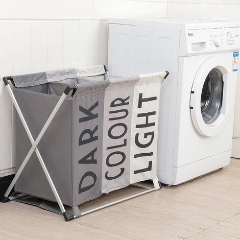 Laundry basket - hamper basket, hamper, washing basket - Light & Dark Colour